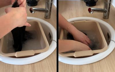 Laver son volumateur en cheveux naturels